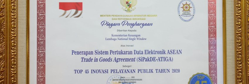 Top-45 Award for Indonesia's Public Service Innovation Competition 2020
